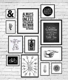Deco Mur Cadre Rectangulaire Photo Blanc Et Noir Dessin Velo Citation Inspirante
