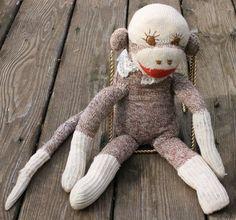 "Vintage Sock Monkey ""Bald Grandma"""