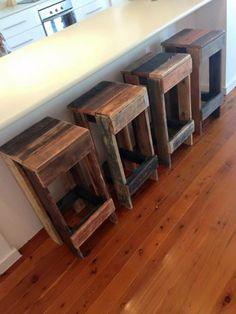 muebles de palets DIY - taburetes de palets