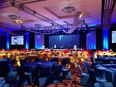 During the set-up for the IBEW 100th Anniversary Gala in the Portland Ballroom