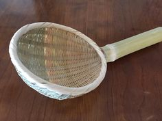 Miso strainer made of Japanese bamboo.