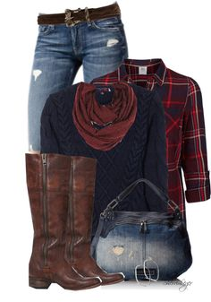 Chequered Fold-Up Shirt Casual Fall Outfit