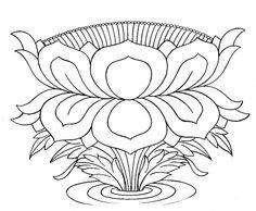 Buddhist Artwork: Line Art: Lotus Symbol 1 Tibetan Symbols, Buddhist Symbols, Tibetan Art, Sacred Symbols, Tibetan Buddhism, Lotus Drawing, Buddha Drawing, Buddha Art, Mehndi