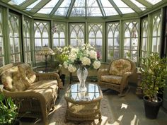 Conservatory sunrooms bring in ample sunlight and liven up the home with wall-to-wall windows and skylights. Check out these sunny spaces for some design inspiration.