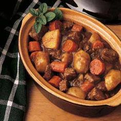 Venison Stew Ingredients: 2 tablespoons canola oil 2 pounds venison stew meat 3 large onions, coarsely chopped 2 garlic cloves, crushed 1 tablespoon Worcestershire sauce 1 bay leaf 1 teaspoon dried...