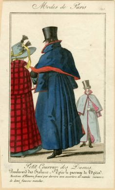 French overcoats, circa 1818 :: Fashion Plate Collection, 19th Century