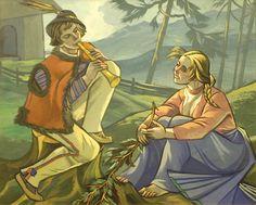 Zofia Stryjeńska - Zaloty Poland, Folk, Art Deco, Artists, Fine Art, Interesting Stuff, Painters, Illustration, Costume
