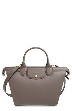 Longchamp 'Le Pliage - Heritage' Leather Satchel available at #Nordstrom