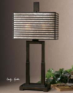 "Uttermost Becton 28.5"" H Table Lamp with Rectangular Shade 