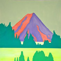 """Purple hills"" Kaja Weum 90cm * 90cm Acrylic and marker on canvas"