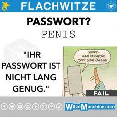 Flachwitze #243 - Penis Passwort - Nicht lang genug Witze