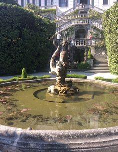 View of fountain at Villa Carlotta, Lake Como