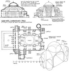 The general crisis that crosses the Roman Empire in the third century had led to fragmentation of political power and the acceptance of some int . Byzantine Architecture, Temple Architecture, Architecture Sketchbook, Islamic Architecture, Historical Architecture, Beautiful Architecture, Architecture Details, Architecture Portfolio, Sainte Sophie