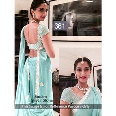 Sonam Silver Stone 60gm Georgette Bollywood Dress