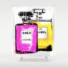 Coco Chanel Shower Curtain by Pablo Moitzheim - $68.00