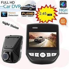 "Boyiya A305 Car Dash Cam, Dashboard Camera Recorder with 1080P 2.45"" HD LCD Lens 170 Degree Wide Angle Car Dash Camera Video DVR Cam Recorder Night Vision Support Motion Detection Function & G-Sensor."
