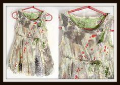 Girl's custom made TODDLER #ZOMBIE HUNTER Ruffled Dress #Halloween #Costume size 3T by wardrobetheglobe, $36.00