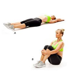 Warrior sit-up shown by Alison Sweeney | health.com