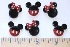 Mickey & Minnie ~ Disney License Buttons  / Jesse James Dress It Up / Shank Back #JesseJames