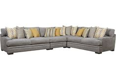 Cindy Crawford Home Palm Springs Gray 4 Pc Sectional . $2,499.99. 117W x 152.5D x 37H. Find affordable Living Room Sets for your home that will complement the rest of your furniture.