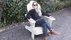Julie in her Adirondack chair