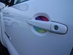 Pride Rainbow Flag Auto Accessory Car Door Handle by CupeezforCars