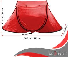 EFFORTLESS CAMPING – Pops open into a read-to-use form (auto-setup) in a blink & proves easy to fold into a compact form – Abco Pop up tent is ideal for casual camping and accommodates 1-2 persons. Like a beautiful spot enroute? Setup your tent instantly! Instant Tent, 2 Person Tent, Beach Tent, Pop Up Tent, Cabana, Compact, Hiking, Camping, Casual