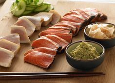 Tataki Asian Sushi Gift Ensemble - Style Albacore Tuna and Sockeye Salmon - Delivered Foods