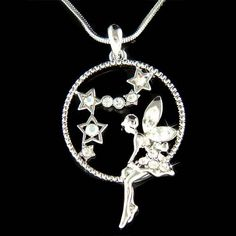 Swarovski Crystal Fairy Tinkerbell ANGEL Wings MOON by Kashuen, $45.00