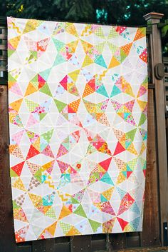 Kaleidoscope Quilt by GoldWillow, via Flickr