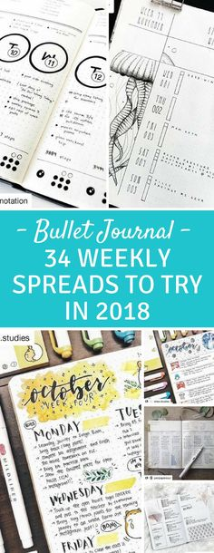 Bullet Journal Weekly Spread Inspiration - Take your to do list to the next level with these amazing and creative ideas for weekly spreads to inspire you! #bujo #bulletjournal #planneraddict