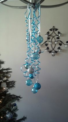 Christmas chandelier decoration