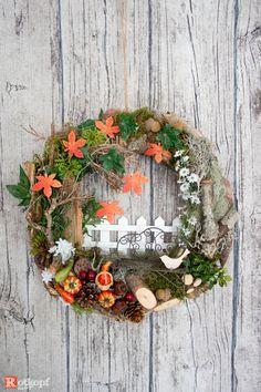 Table wreath Autumn wreath WANDKRANZ Vintage wreath Fabric Wreath Christmas deer Autumn Advent wreath ShabbyChic door wreath