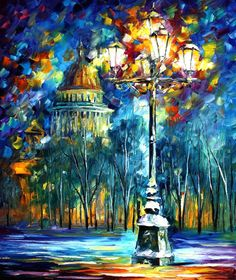 St. Petersburg — PALETTE KNIFE Oil Painting On Canvas By Leonid Afremov - Size…