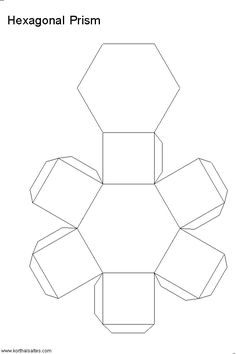 The Hexagonal Prism Is Made Of Two Bases And Six Rectangular Sides Nets Templates Pictures Paper