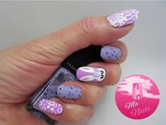 Easter Nails with Bunny Accent #cutemani #lavender #easterbunny #nailart - bellashoot.com