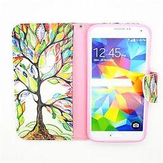 elämän puu kuvio PU nahka koko kehon tapauksessa korttipaikka ja jalusta Samsung S5 i9600 – EUR € 7.99