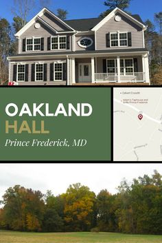 Oakland Hall Prince Frederick Md Quality Built Homes Newest Community In Calvert County