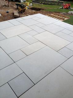 Garden slabs - Sawn Kandla Grey Indian Sandstone Paving