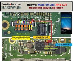Huawei Mate 10 Lite Display Problem Solution Backlight Ways Huawei Mate 10 Lite LCD Light Not Working Problem Repair Solution Display Ways Broken Phone, Mobile Phone Repair, Problem And Solution, Screen Replacement, How To Find Out, Display, Iphone Se, Circuit, Jumper