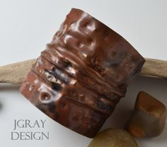 Forged and Foldform Copper Cuff.  Arm Band.  by JGrayDesign