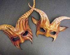 Leather Goat Mask PAIR For Couples or also available