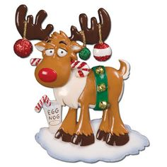 Personalized Christmas Ornament Moose by AdornamentsNY on Etsy, $12.00