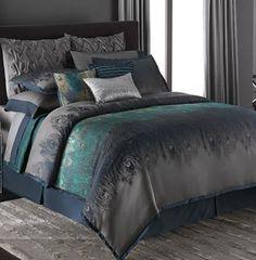 ♡My dream bedding♡jennifer-lopez-bedding-collection-exotic-plume-bedding-coordinates Master Bedroom Design, Dream Bedroom, Home Bedroom, Bedroom Decor, Peacock Bedding, Peacock Bedroom, King Comforter Sets, Queen Comforter Sets, King Duvet
