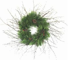 Holiday Birch Wreath by Wilson Evergreens. $44.00. Our holiday Xmas wreath is a mix of fresh cedar, pine, and festive birch branches make this wreath rich with holiday tradition and a great new holiday look. Size 30''