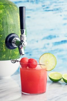 Recipe including course(s): Side; and ingredients: ice, lime, lime juice, liqueur, tequila, watermelon