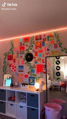 Indie Room Decor, Cute Bedroom Decor, Room Design Bedroom, Aesthetic Room Decor, Room Ideas Bedroom, Aesthetic Indie, Aesthetic Vintage, Diy Room Ideas, Cool Room Decor