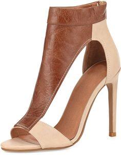 Jeffrey Campbell Vandross Wide T-Strap Sandal, Brown/Tan on shopstyle.com