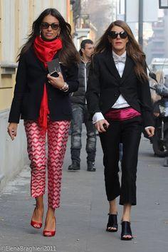 Anna dello russo and viv in those amazing pants. Fashion Editor, Daily Fashion, Boho Fashion, Fashion Looks, Womens Fashion, London Fashion, Caroline Daur, Glamorous Chic Life, Vogue