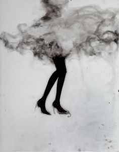 The girl in the black tights, Cathy Daley GREAT IMAGE AND IDEA USING CHARCOAL SMUDGING.